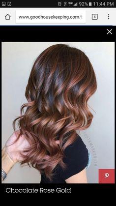 Rose gold Brunette: