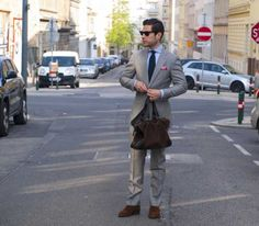 Blue ties for men – grey pinstripe suits @Men Style Fashion