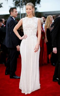 Elie Saab gowns are a favorite of Iggy Azalea's. We can see why. // #redcarpet
