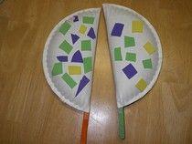 Three Caballeros - make paper plate maracas