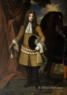 Sir Godfrey Kneller, Bt. Captain Thomas Lucy oil painting reproductions for sale