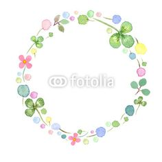 Watercolor frame template with spring flowers #1