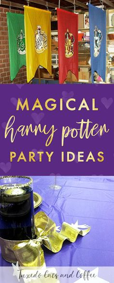 We held this Harry Potter party as an awards ceremony and end-of-the-year banquet for a group at a high school. This post will give you Harry Potter party ideas and show you how to hold your own Harry Potter birthday party. #harrypotter #harrypotterparty #harrypotterbirthday #harrypotterdiy