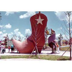 AstroWorld - Children's World - The Boot Slide Six Flags Houston, Astroworld Houston, Houston Architecture, H Town, Carnivals, Amusement Parks, Historical Photos, Childhood Memories, The Past