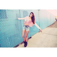 Taylor Marie Hill ❤ liked on Polyvore featuring people, photos, taylor marie hill, outfits and blue pictures