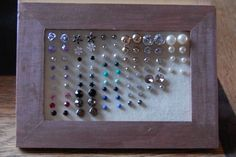 DIY earring holder  Makes a great gift for women and you can decorate the frame