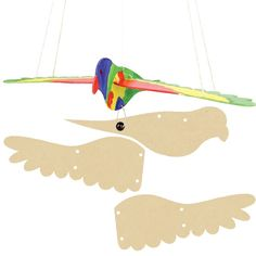 3D Wooden Flying Bird Image