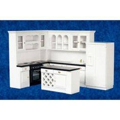 Modern White and Stainless Kitchen Set Stainless steel