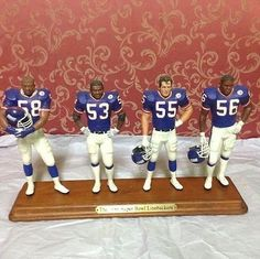 New York Giants Linebackers Nfl Football Players, Danbury Mint, New York Giants, Pittsburgh Steelers, Super Bowl, Action Figures, Disney Characters, Sports, Fun