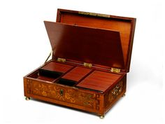 French Casket    Dr. Carolyn Sargentson, an art historian, has studied what the key signified to the men and women of Ancien Regime Paris. Wealthy men and women often purchased ornately designed locking furniture—writing desks, armoires, caskets like the one shown here, from the 1770s—that featured secret compartments for correspondence, gems, and other valuables. You might be hiding your trinkets from the servants, or you might be hiding a packet of racy letters from your husband.