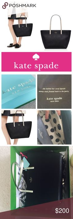 """KATE SPADE small harmony gallery drive (blk/gold) BRAND NEW. Tags weren't attached but they are included (they were loose in the bag). Never been used. Dust bag and original packaging included, although box has wear/dents from a recent move. Black with metallic details (gold hardware/straps are a very light/white gold). NEVER BEEN USED! Absolute perfect condition (minus the gift box). I didn't mark NWT because technically tags are not """"attached"""" as per postmark policy! But they were never…"""
