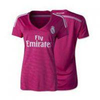 Real Madrid CF 2014-15 Season Away Pink Womens Jersey