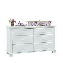 Baby Cache Essentials Double Dresser - White
