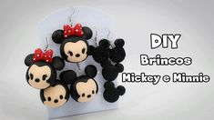 DIY - Brincos (Mickey e Minnie)