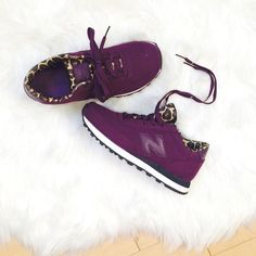 New Balance '501' Sneaker New Balance '501' Purple/Leopard Sneaker!   worn about 5 times, but minor signs of wear on shoe  these fit true to size running shoes  sold out everywhere so no low balls!  pls make all offers via the offer button!  no trades, PP or Mercari  New Balance Shoes Sneakers