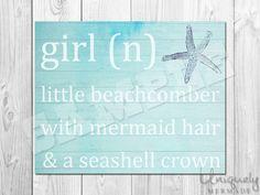Girl Mermaid Print - Nursery Art- Baby shower gift- Baby- Toddler- Nursery Decor- Room Decor- Printable Art- Download by UniquelyMermade on Etsy https://www.etsy.com/listing/232836924/girl-mermaid-print-nursery-art-baby