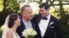 "NEW YORK –- Tom Hanks made a couple's wedding photo shoot even more special when he broke free from his jog through Central Park and took a moment to congratulate the lovebirds.  The ""Sully"" actor shook their hands, kissed the bride before posing for pictures with them. The encounter was captured on video and photos, including on Hanks' Instagram account."