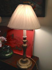 French Art Nouveau Table Lamp. Bronze. Good condition. Circa1890