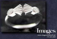 We made this Scottish thistle ring in 14k white gold. #imagesjewelers #customjewelry #thistle #thistlering