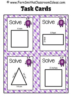 Fern Smith's Freebie Friday ~ #FREE Perimeter Pete Task Cards #Tpt