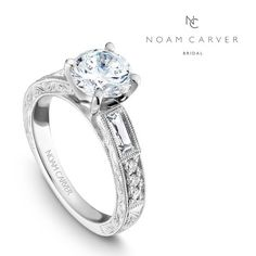 Gorgeous art deco inspired engagement ring by Noam Carver. http://www.crownring.com/engagement-rings/