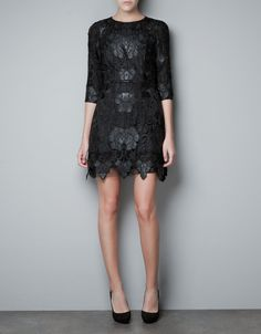 For the best of both worlds, this Zara Combined Dress ($189) marries intricate lace and edgy leather.