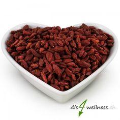 Goji-Beeren getrocknet - Die Wunderfrucht , 500g  Goji-Beeren sind kleine rote Früche mit vielen Vitaminen und Mineralstoffen. Superfoods, Smoothie, Dog Food Recipes, Almond, Beans, Low Carb, Vegetables, Figs, Organic Beauty