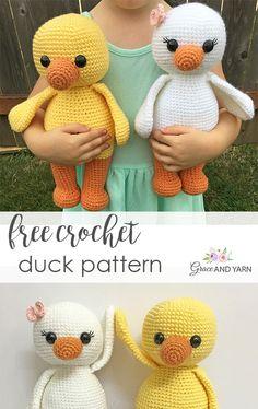 Free Crochet Duck Pattern - Grace and Yarn