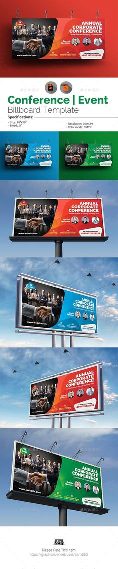 ◿ [Get Free]▾ Event Summit Conference Billboard Template Annual Program Banner Banners Billboard Template Business Conference