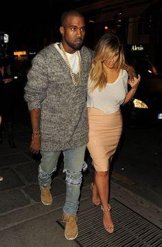 Kanye and Kim.