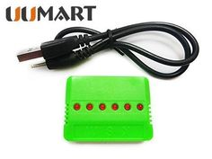 UUMART 6 in 1 X6 Battery Charger for Hubsan X4 Wltoys UDI U816 JXD 385 Syma X5