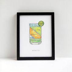 Mojito Cocktail Print | Drywell Art