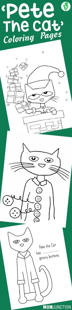 10 Best 'Pete The Cat' Coloring Pages For Your Little Ones Meet Pete, the cat who makes learning fun! This famous series is loved by almost all the kids. So here we give 10 free printable pete the cat coloring pages Preschool Books, Preschool Activities, Activities For Kids, Cat Coloring Page, Coloring Pages, Kids Coloring, Pete The Cats, Theme Noel, Cat Birthday