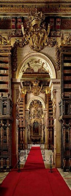 The University of Coimbra General Library - Biblioteca Joanina da Universidade de Coimbra, Portugal #books #library #libri #biblioteca #livres #bibliotheque #interiordesign - More wonders at www.francescocatalano.it