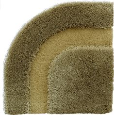 Frankly Amsterdam Full Circle Carpet 3607.  Green carpet with round edges.