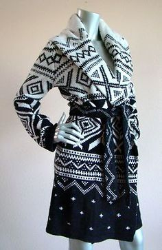 RALPH LAUREN SWEATER JACKET WOMANS SIZE LARGE NAVAJO INDIAN SOUTHWEST BLACK on eBay!
