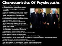 Characteristics of psychopaths.  Children need to be taught!