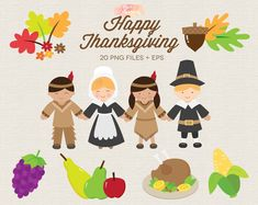 BUY 3 GET 30% OFF Happy Thanksgiving Clipart - Thanksgiving clip art - Pilgrims and Native Americans Clipart - Autumn Fall Harvest Clipart Thanksgiving Turkey Images, Happy Thanksgiving Clipart, Thanksgiving Banner, Thanksgiving Greetings, Happy Thanksgiving Day, Picture Frame Template, Stick Figure Family, Get Happy, Fall Harvest