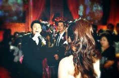 The handsome Groom was singing while fetching the beautiful bride