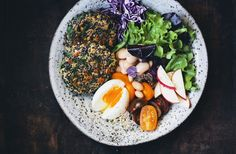 Spinach & Quinoa Patties in a bowl