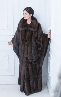 long sable fur coat