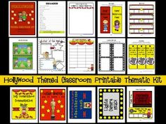 Clutter-Free Classroom: Hollywood Themed Classroom Photos and Ideas edition} Star Themed Classroom, Classroom Themes, Classroom Activities, Movie Classroom, Disney Classroom, Classroom Environment, Motor Activities, Educational Activities, Physical Activities