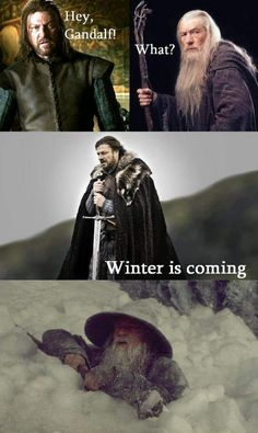 "This: | 26 Things You'll Only Get If You Watch ""Game Of Thrones"" Bahahaha ! LOTR & GOT crossover lol"