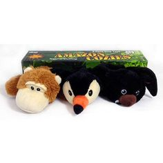 Amazon Cozies 3-Pack Squeaking Dog Toys with Natural Stuffing *** For more information, visit now : Dog Toys