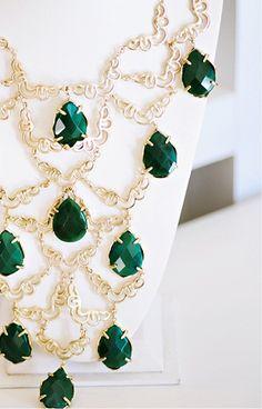 kendra scott emerald bib necklace (love!)