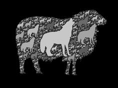 Wolf in sheep's clothing (a fractal tiling)
