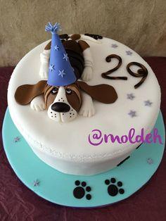 Pastel de cumpleaños con perrito Basset Hound en 3D // 3D Basset Hound birthday cake