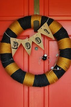 Delight your visitors and trick-or-treaters this October by decorating your front door with these easy-to-make Halloween wreaths.