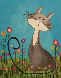 tween canvas painting party | grey-kitty