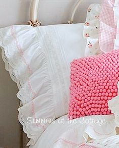 Shabby Chic Beach Cottage Bedding Linens Rachel Ashwell Duvet Quilt Chenille Bedspread Shower Curtain Vintage Romantic Homes